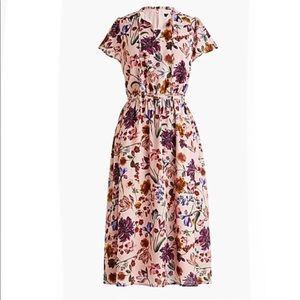 J.Crew Short-sleeve midi dress in Dutch floral